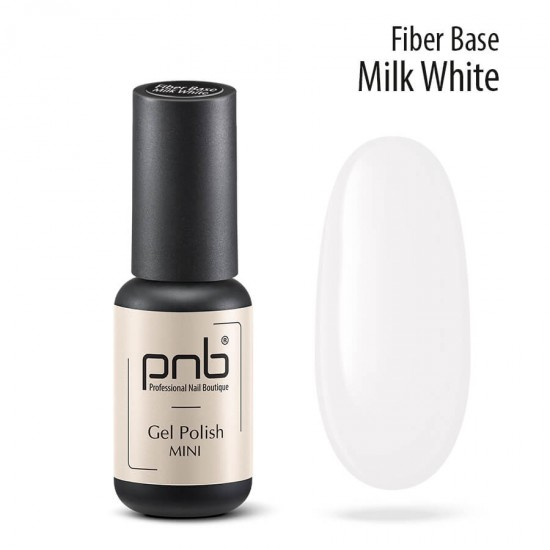 База с нейлоновыми волокнами Fiber Base PNB, молочно белая, 4 мл