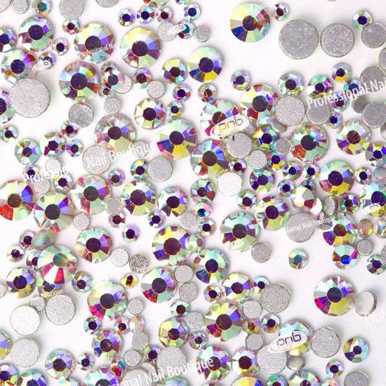 Стразы PNB АВ северное сияние, микс размеров, стекло