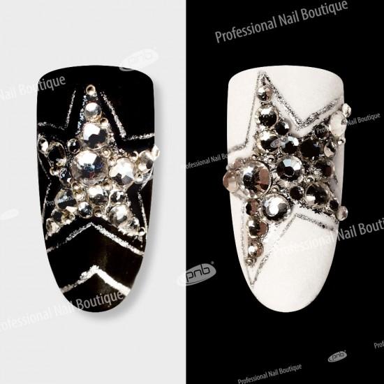 Стразы PNB Кристалл, микс размеров, стекло