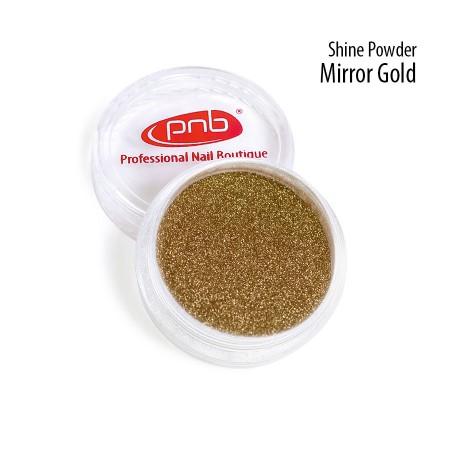 Зеркальная втирка пудра PNB, золото