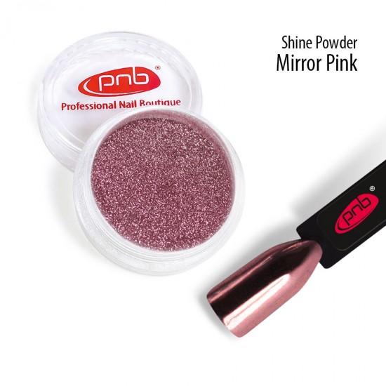 Зеркальная втирка пудра PNB, розовая
