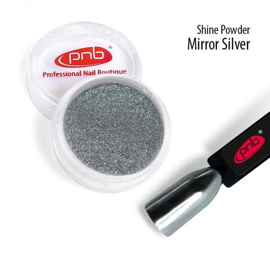 Зеркальная втирка пудра PNB, серебро