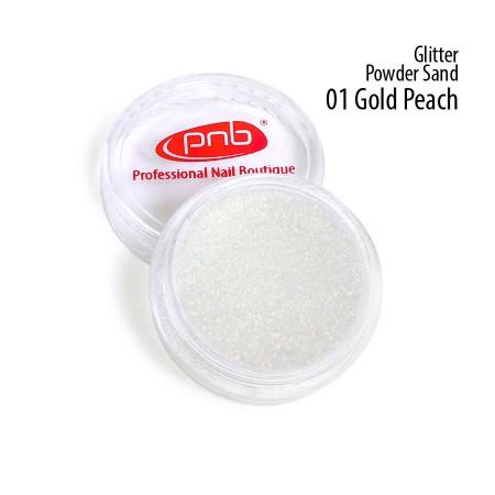 Пудра песок глиттерная, золотисто-персиковая PNB