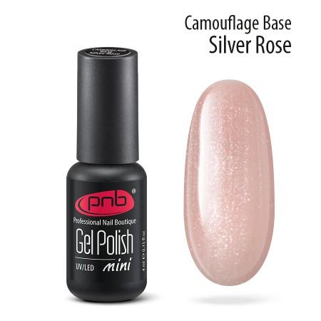 Камуфлирующая база PNB, 4 мл, серебристо-розовая