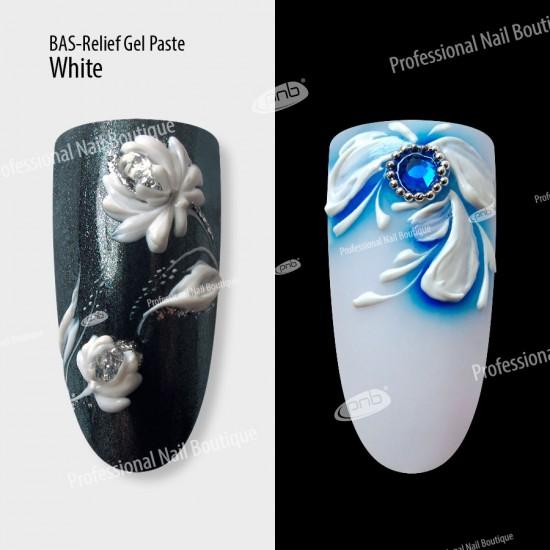 Гель паста PNB барельеф / UV/LED Gel Paste Bas-Relief (белая), 5 мл