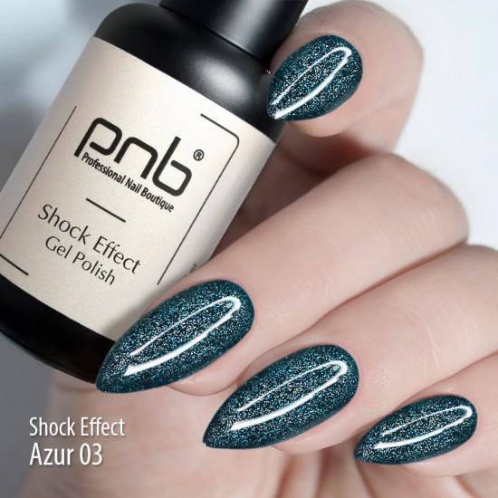 Гель лак PNB Shock Effect, Azure 03