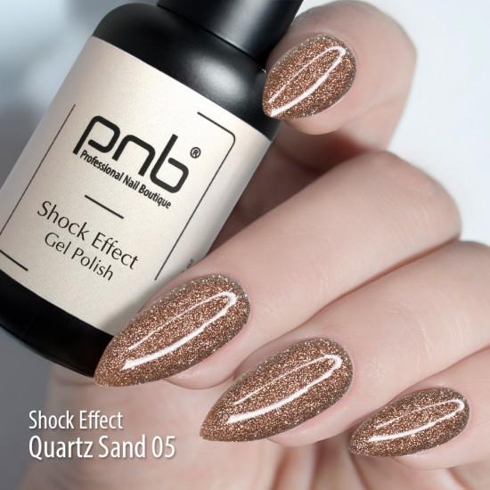 Гель лак PNB Shock Effect, Quartz sand 05