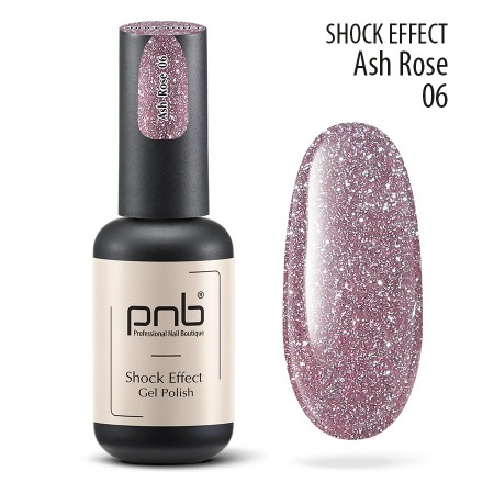 Гель лак PNB Shock Effect, Ash rose 06