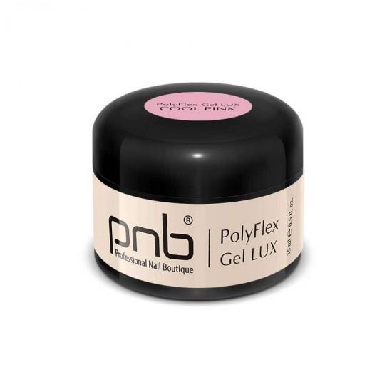 Полифлекс гель холодный розовый / UV/LED PolyFlex Gel LUX, Cool Pink, 15 ml