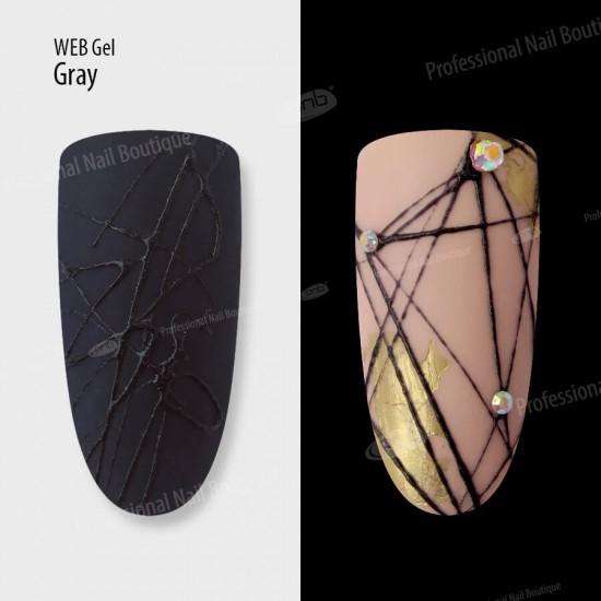 Гель паутинка серый PNB / UV/LED Web Gel Gray