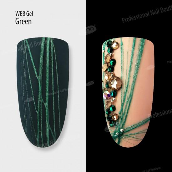Гель паутинка зеленый PNB / UV/LED Web Gel Green