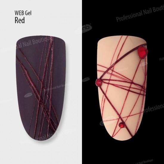 Гель паутинка красный PNB / UV/LED Web Gel Red