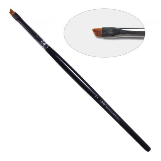 4D. Кисть для дизайна скошенная 2-s PNB, нейлон / Nail Art Brush slant 2-s, nylon