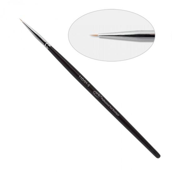11D. Кисть для дизайна круглая 01-s, нейлон / Nail Art Brush round 01-s PNB, nylon