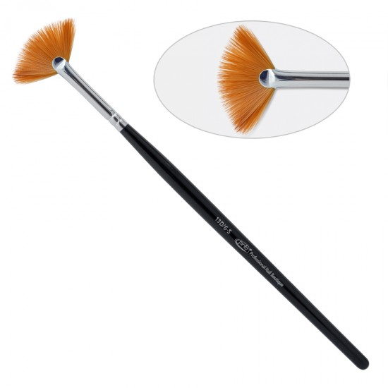 13 D. Кисть для дизайна веерная 13D/6-s ПНБ, нейлон / Nail Art Brush Fan 6-s PNB, nylon