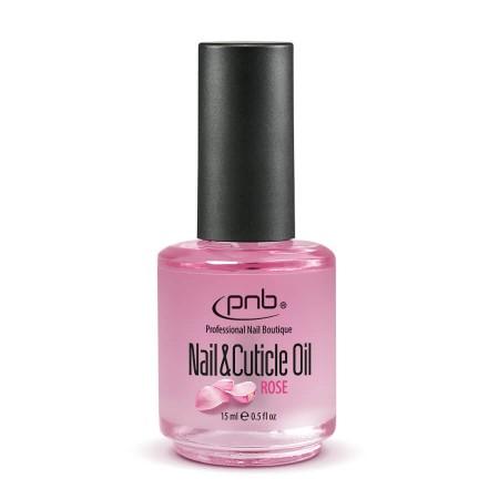 Масло для кутикул / Nail&Cuticle Oil, Rose PNB, 15 ml